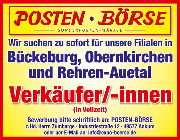 Posten-Börse Sonderposten-Märkte | Jobs